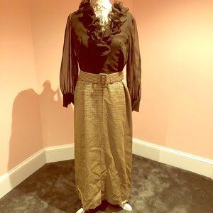 Awesome vintage 70s hostess maxi dress